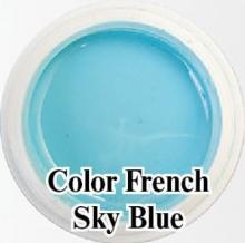 Биогель для французкого маникюра Bio Gel  Color French Sky Blue