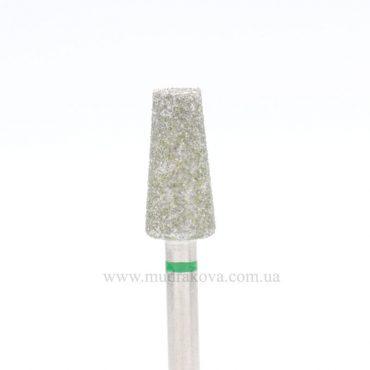 Насадка алмазная D_158_S, зеленая насечка