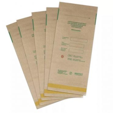 Крафт пакеты для паровой и воздушной стерилизации, 115*200, 100шт