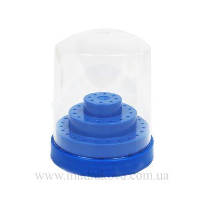 Подставка под насадки фрезера с крышкой, синий