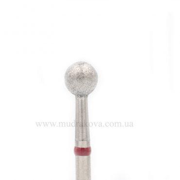 Насадка алмазная шар 5 мм красная насечка