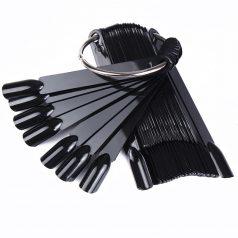 Типсы черные на палочке на кольце 50шт.