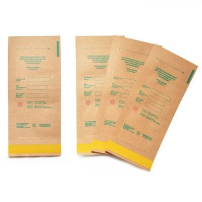 Крафт пакеты для паровой и воздушной стерилизации, 100*200, 100шт