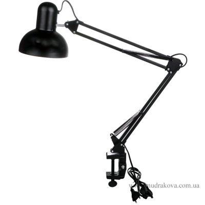 Лампа настольная на струбцине(черная)