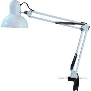 Лампа настольная на струбцине (белая)