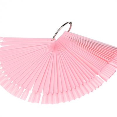 Палитра -веер на кольце розовая, 50 шт.