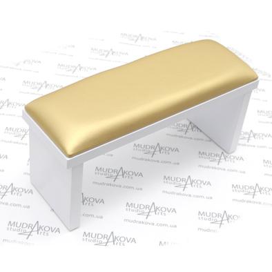 Подставка для рук белая/gold