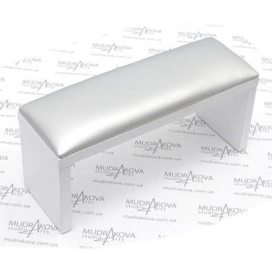 Подставка для рук белая/silver
