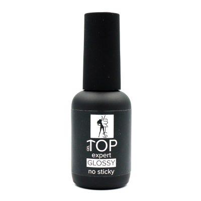 Top Expert Glossy №1 no sticky– финишное покрытие без липкого слоя для геля