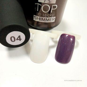 TOP Shimmer №4 (розовый шиммер)- глянцевый топ с блестками