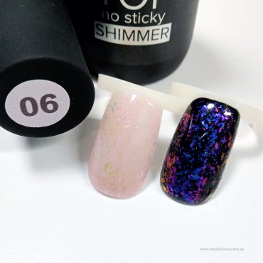 TOP Shimmer №6 – глянцевый топ с блестками Юки